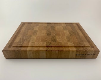 White Oak End-grain Cutting Board With Juice Groove