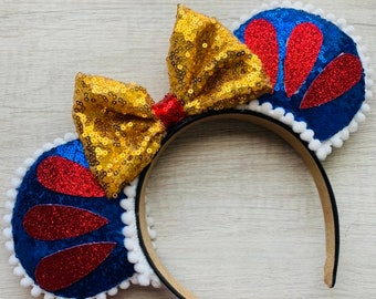 Snow White inspired Minnie Mouse ears