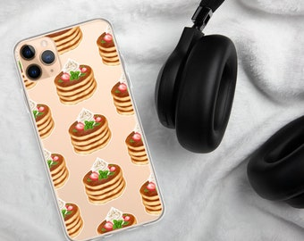 /'pancake/' style iPhone case Will take any model in veg tanned leather slides on your belt Custom made