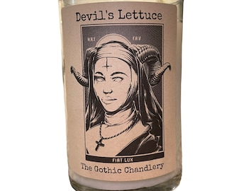 Cannabis Flower Evil Nun Gothic Scented Candle