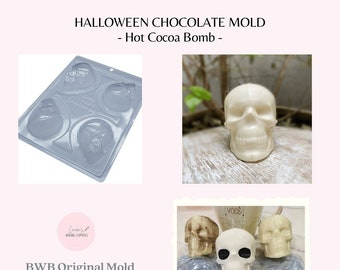 Small Skull Breakable BWB 3 Part Mold // BWB Original 3 Piece Chocolate Mold // New Mold in Stock!