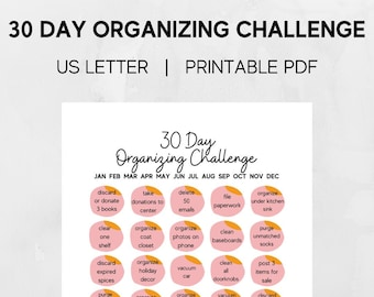 30 Day Organizing Challenge Letter-Sized Printable