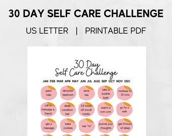 30 Day Self Care Letter-Sized Printable