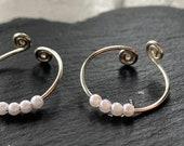 Anxiety *worry ring* skin picking dermatillomania - spinner ring- Pearl white/Pearl blush pink - fidget  ADHD TikTok