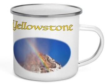 Enamel Camper Mug - Yellowstone Rainbow Geyser
