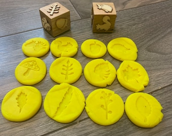 Fall themed/ wooden play doh stamps/ wooden stampers