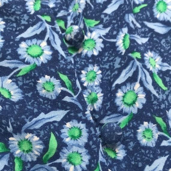 80's Vintage FADS Floral Romper - image 4