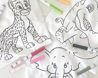 Kids Colouring Tshirt, Toddler Activities, Kids Toys, Children's Colouring