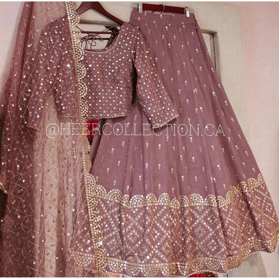 Indian Bollywood Designer Lehenga Choli Wedding Wear Embroidered Lehenga Choli