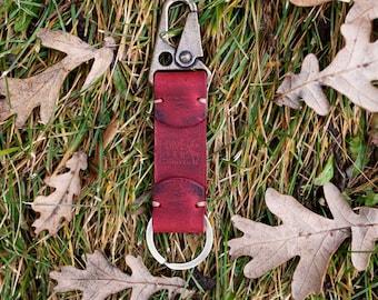 Lone Deer Leather Keychain, Keychain, Handmade leather keychain, Genuine leather, Leather gift, Keyring, Leather Keyring ,Summer sales