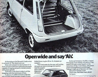 1982 Renault /'18 GTL/' Saloon Motor Car Advertisement UK Freepost Vintage Original Auto Print Ad 103-S