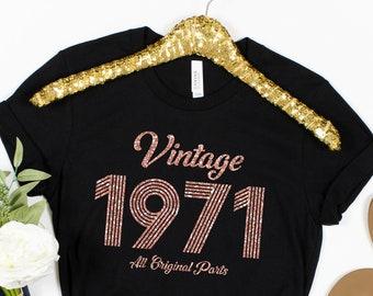 50th birthday gift for women tshirts