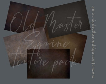 Old Masters Equine Texture Pack - digital photoshop overlay set