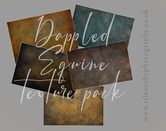 Dappled Equine Texture Pack - digital photoshop overlay set