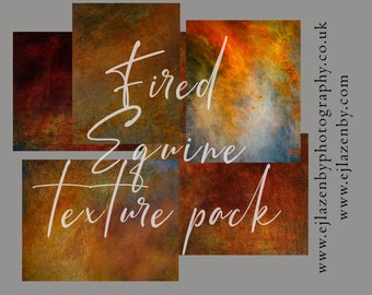 Fired Equine Texture Pack - digital photoshop overlay set