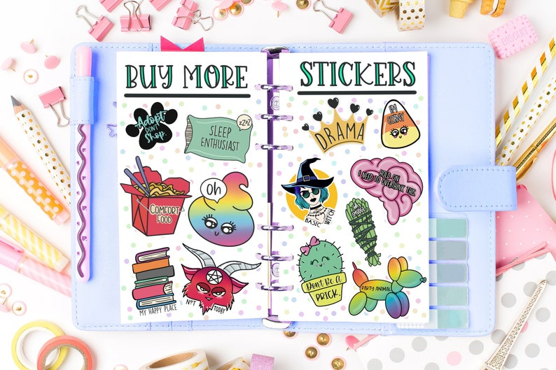 Planners Phone Cases Journals Mystery Oops Bundle of 10 Vinyl Stickers for Laptops Tablets etc.