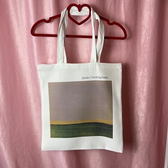 Post Canvas shopping bag 100/% recycled eco friendly grunge indie shoegaze lofi music Handmade Linen Tote Bag Bjork