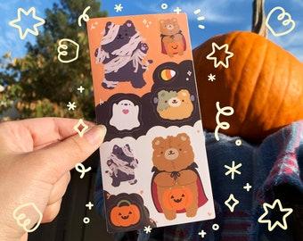 Halloween Animals Sticker Sheet, Bujo Stickers, Planner Stickers, Bullet Journaling Stickers