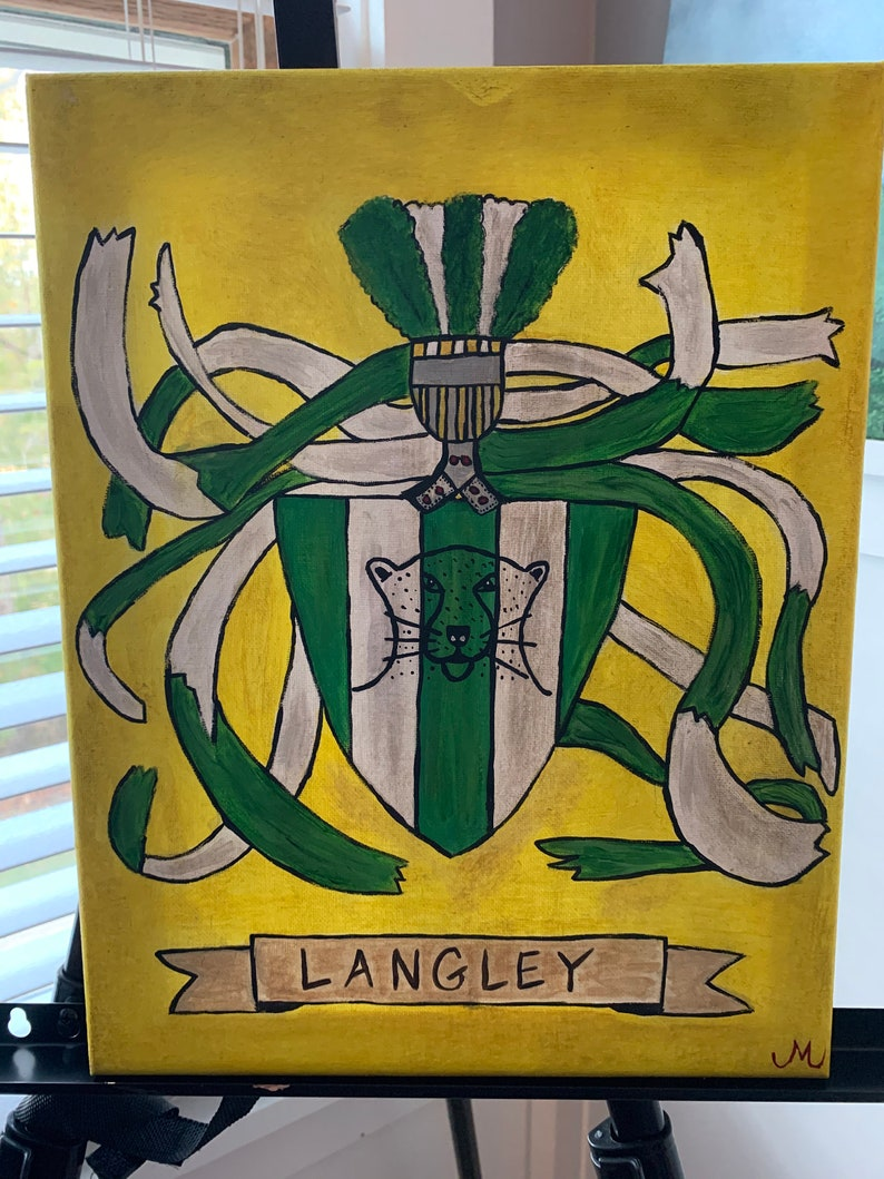 Hand Painted and Personalized Family Crests