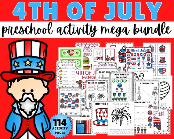 4th of July Activity Pack For Preschoolers Fun 4th of July