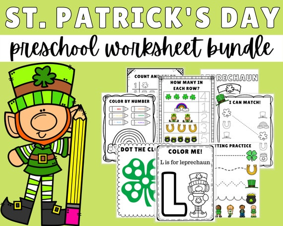 St. Patrick's Day Preschool Activities St Patrick's