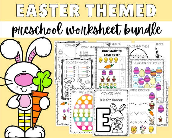 Printable Easter Activities For Kids Preschool Worksheets