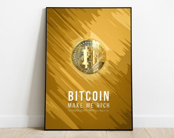 Bitcoin Art Poster - Crypto Currency