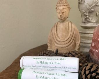Handmade Organic Peppermint Cocoa Lip Balm