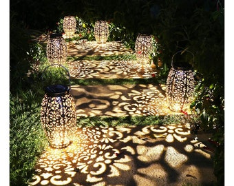Solar Powered Lantern Light Lighting Lights Hanging Stars Star Outdoor Indoor Garden Eco Friendly Vintage Metal Automatic On/Off (1 Unit)