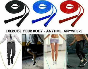 SKIPPING ROPE YOGA PILATES Jump Rope SPEED 9ft Boxing Skipping Rope BEADED