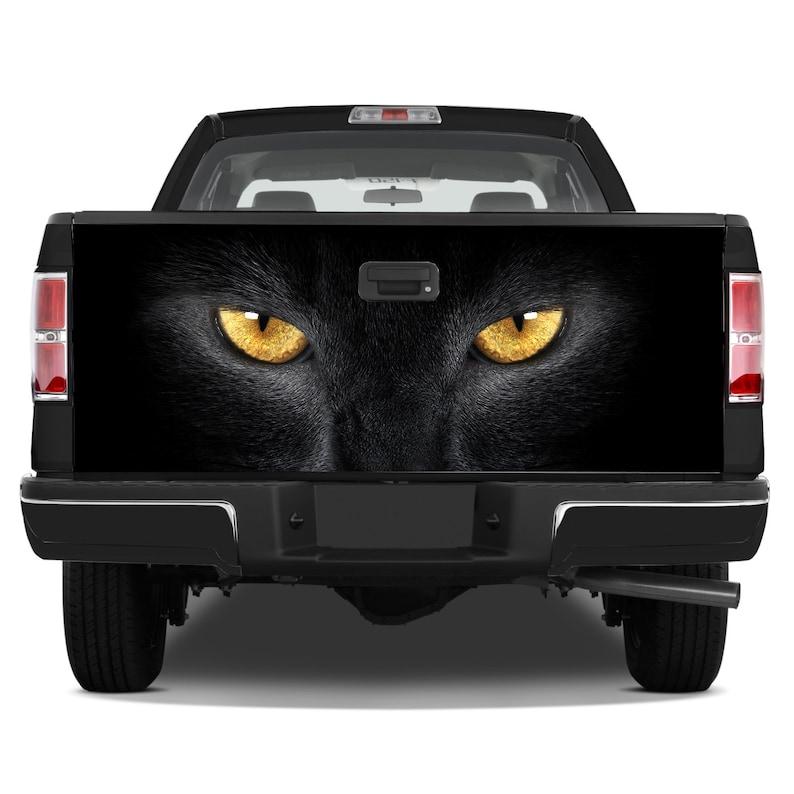Tailgate Graphics Wrap Black Eyes Cat Sight Vinyl Decal Full