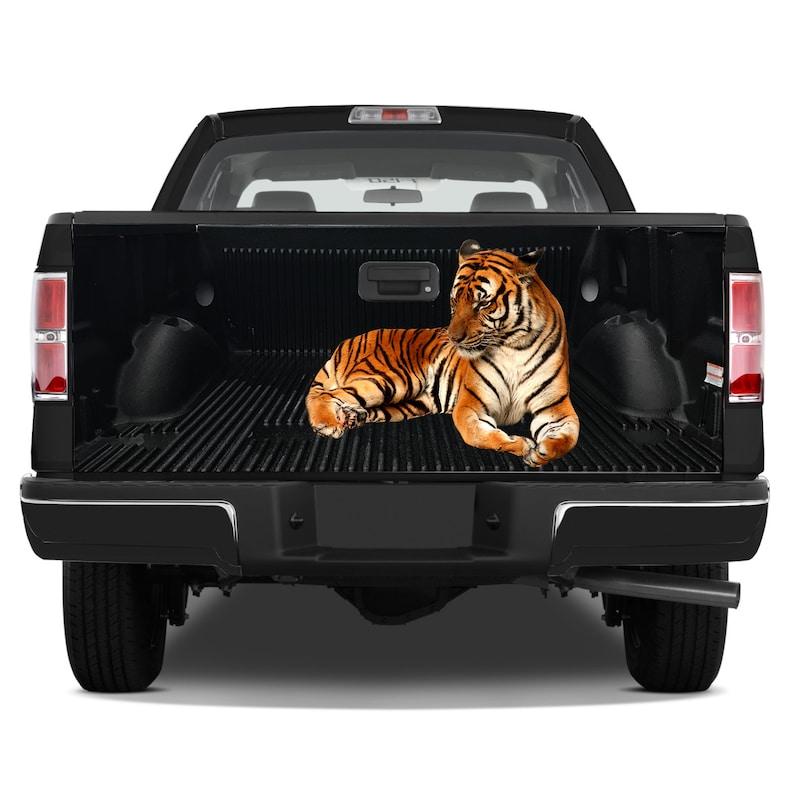 Tailgate Graphics Wrap Bengal Tiger Hunter Vinyl Decal Full