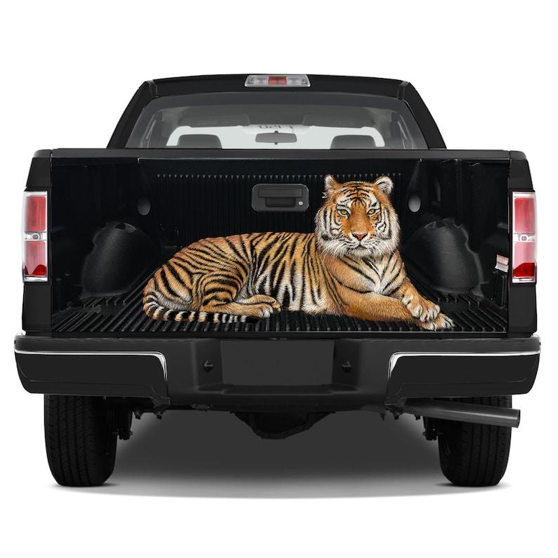 Tailgate Graphics Wrap Tiger Hunter Sight Vinyl Decal Full