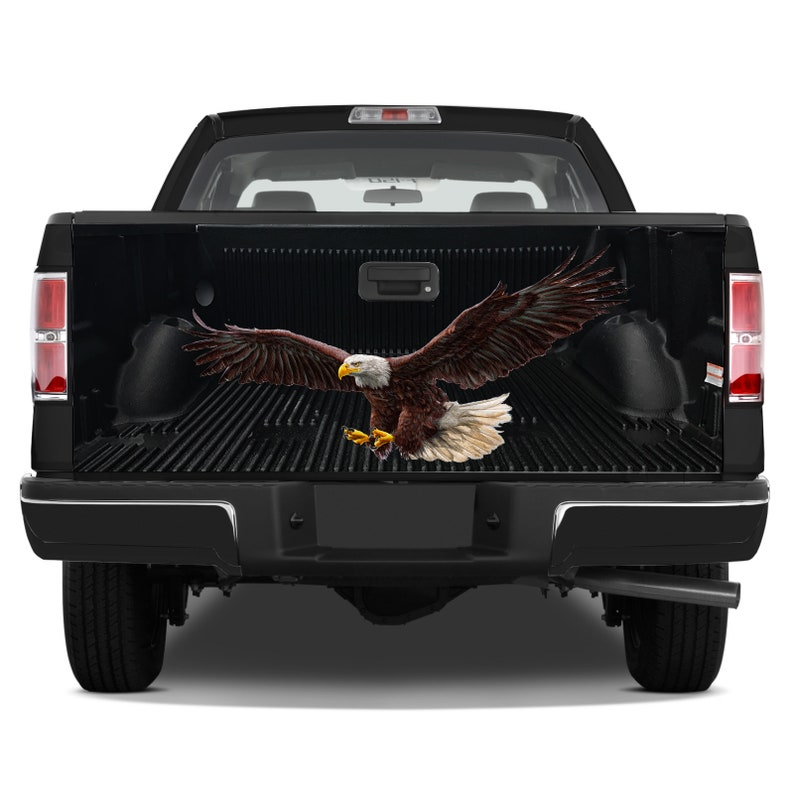 Tailgate Graphics Wrap American Eagle Wings Vinyl Decal Full