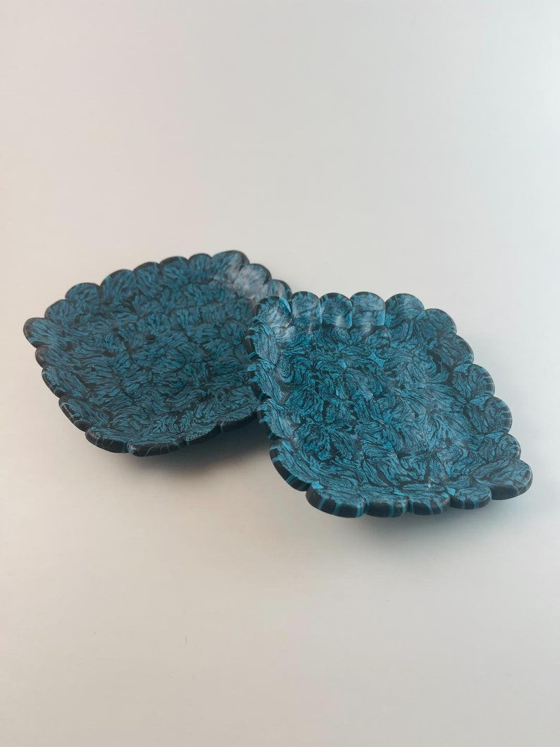 2 Clay Trinket or Votive Dishes