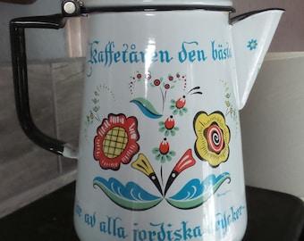 Metal Pot Small Enamel Coffee Pot Red and White Vintage Coffee Pot Small Vase Christmas Red Decor Enamel Pot of Turkish Coffee Milk Pot