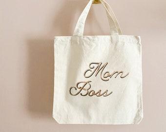 Gym Tote Bag. Reusable Bag Boss Wife Market Beach Mom