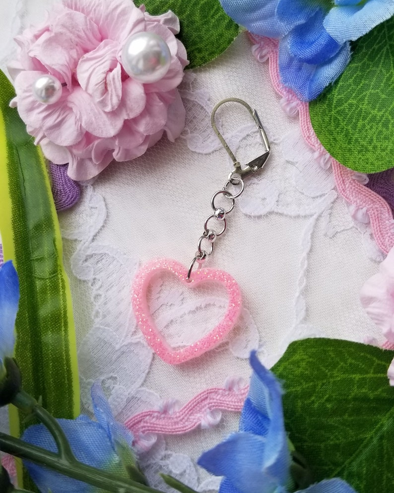 SINGLE Bubblegum Pink Glitter Earring