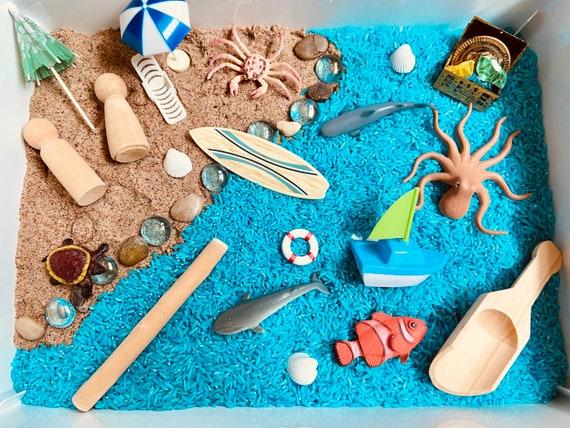 Beach Sensory Bin  Beach Sensory Kit  Summer Sensory Kit