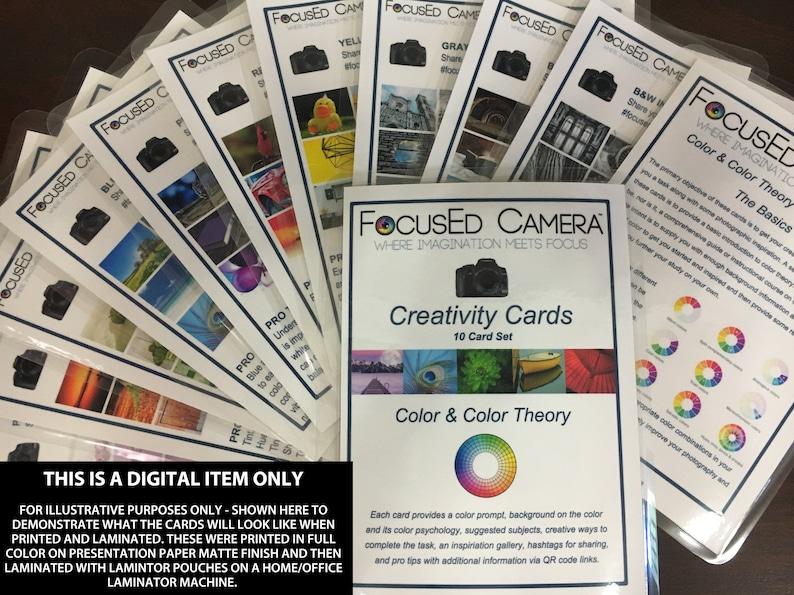 Photography Creativity Cards  Inspiration  Ideas  Cheat image 0