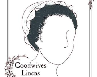 Mrs. Custis 18th Century Cap Pattern Digital Download