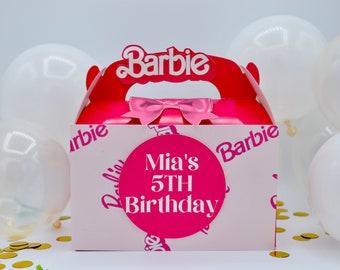 Barbie- Party Favor Boxes (3D Pop Up)- 12 Pieces