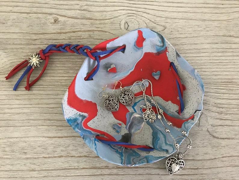 Home Decor Jewelry Holder Trinket Dish Soap Dish Ring Dish Jewelry Dish Ring Tray Boho Clay Dish Clay Dish 5\u201d Deco Dish