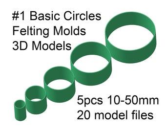 Pssopp 7pcs Felting Mold Multi Shape Lovely DIY Needle Felting Applique Mold Felt Template Felting Stencil Beginner Craft Tool