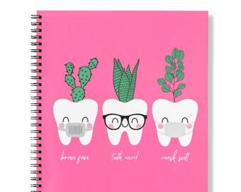 Spiral Lined Notebook, 8.5x11 in. Journal (College Ruled) for Dental Hygiene Dental Assistant Students
