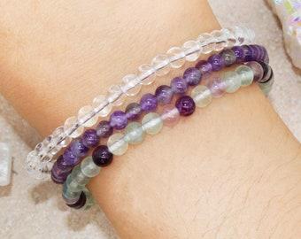 Crown chakra  Sahasrara bracelet,earrings Natural WHITE TRIDACNA 3 pieces jewelry set: necklace Chakra healing