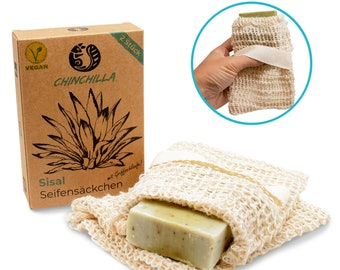 Sisal Soap Bags Set of 2 | Storage for soap residues & solid shampoo