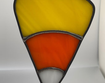 Stained Glass Candy Corn - M   Sun Catcher   Window Hanging