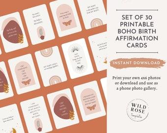 christian birth affirmation cards