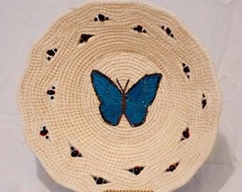 Butterfly Chambira Wall Basket - Handmade